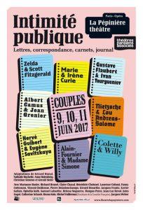Affiche festival intimite publique pepiniere theatre